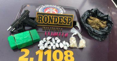 Rondesp Atlântico apreende espingarda, pistola e drogas em Salvador